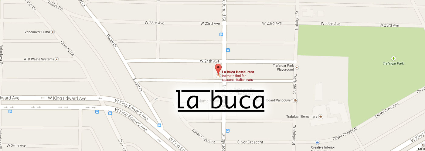 Join Us La Buca On Vancouvers Westside - Vancouver-on-us-map